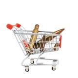 Balas em um carrinho de compras Imagem de Stock