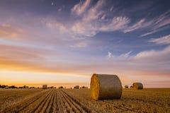 Balas en la puesta del sol Foto de archivo libre de regalías