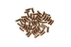 balas 45mm no fundo branco Imagens de Stock Royalty Free