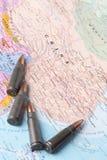 Balas no mapa de China Imagens de Stock Royalty Free