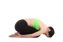 Balasana yoga Pose Royalty Free Stock Photo