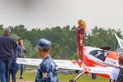 Balashikha, regi?n de Mosc?, Rusia - 25 de mayo de 2019: Campe?n absoluto del mundo en la competencia para mujer en los deportes  foto de archivo