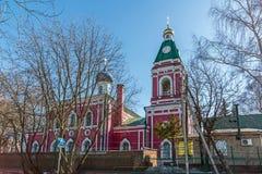 Balashikha Rosja, Kwiecień, - 04 2016 Kościół narodzenie jezusa Błogosławiony maryja dziewica Obraz Royalty Free