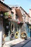 Balat区在伊斯坦布尔 免版税库存照片