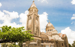 The Balata cathedral, Martinique island. The Balata cathedral is a replica of Parisian Montmartre Sacre Coeur church lodged on a cliff surrounded by tropical Stock Photos