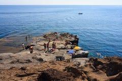 Balata dei Turchi, Pantelleria Royalty Free Stock Images
