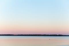 balaton匈牙利湖做照片日落 免版税库存图片