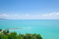 Balaton湖,匈牙利看法  免版税库存图片