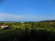 Balaton, λίμνη, τοπίο, πανόραμα στοκ εικόνα με δικαίωμα ελεύθερης χρήσης