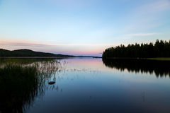 balaton η λίμνη της Ουγγαρίας κάνει το ηλιοβασίλεμα φωτογραφιών Στοκ Εικόνα