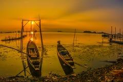 balaton η λίμνη της Ουγγαρίας κάνει το ηλιοβασίλεμα φωτογραφιών Στοκ φωτογραφία με δικαίωμα ελεύθερης χρήσης