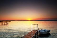 湖Balaton 图库摄影
