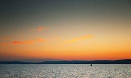 湖Balaton 库存照片