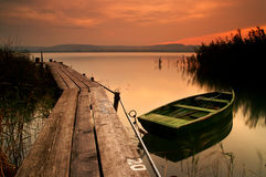balaton湖 库存图片