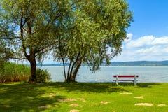 湖Balaton 免版税库存照片