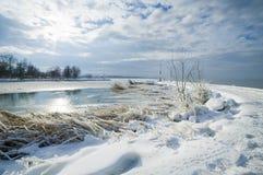 Balaton en invierno fotografía de archivo libre de regalías