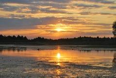 balaton hungary lake make photo sunset Выравнивать свет с жизнью реки стоковые фото