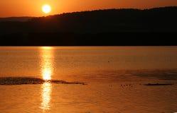 balaton hungary lake make photo sunset стоковое изображение rf