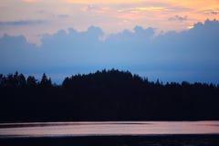 balaton hungary lake make photo sunset Стоковые Изображения RF