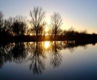 balaton Hungary robi zdjęcie zmierzchowi lake Obrazy Royalty Free