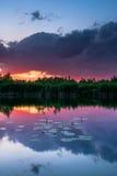 balaton Hungary robi zdjęcie zmierzchowi lake Zdjęcia Stock