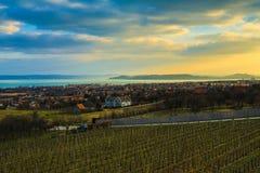 Balaton krajobraz Zdjęcia Stock