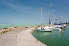 Balaton lake, Hungary. Balaton lake boats in Hungary Stock Photos