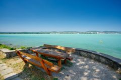 Balaton lake, Hungary. Balaton lake view in Hungary Royalty Free Stock Photos