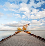 Balaton lake from Hungary,Révfülöp Royalty Free Stock Images