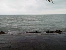 Balaton Lake - Siófok - Hungary. It was a stormy weather on that day stock photo