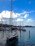 Balaton lake view royalty free stock photos