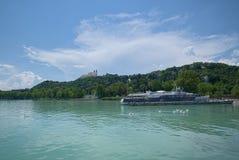 Balaton sjökust, Ungern Fotografering för Bildbyråer