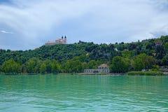 Balaton sjökust, Ungern Royaltyfria Bilder