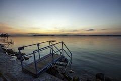 Balaton solnedgång Royaltyfri Fotografi