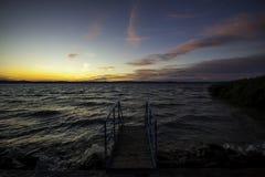 Balaton solnedgång Arkivbilder