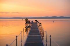 Balaton sunset Stock Photography
