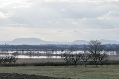 Balaton uplands. On a rainy day in Hungary Royalty Free Stock Images