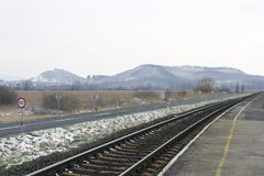 Balaton uplands. On a winter day in Hungary Royalty Free Stock Photos