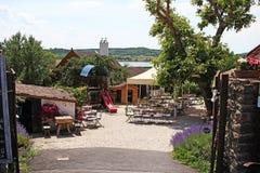Balaton Węgry Tihany Europejski duży jeziorny 2018 widoku pogodny letni dzień Zdjęcia Royalty Free