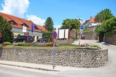Balaton Węgry Tihany Europejski duży jeziorny 2018 widoku pogodny letni dzień Obrazy Royalty Free