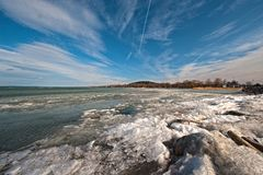 Balaton in winter Royalty Free Stock Image