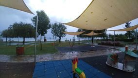 Balatonfüred. Lake Balaton, lake Balaton, after the storm, playground Stock Photos