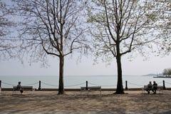 Balatonfuered no lago Balaton imagem de stock royalty free