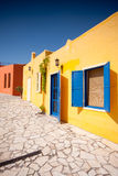 balatonfured färgrikt hus Arkivbilder