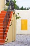 balatonfured färgrikt hus fotografering för bildbyråer