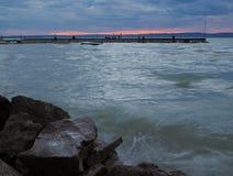 balatonhungary lake Royaltyfri Fotografi