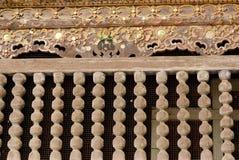 Balaustra di legno antica Immagine Stock