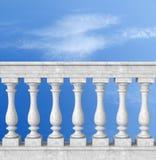 balaustrada com coluna ilustração stock