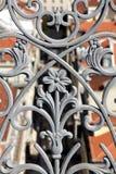 Balaustrada do ferro forjado imagens de stock