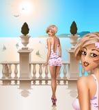 Balaustrada italiana Imagens de Stock Royalty Free
